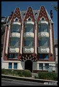 Oriels de l'École de musique de Saint-Quentin, de style Art déco