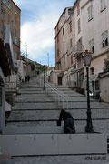 Bonifacio - Montée Rastello vers la citadelle