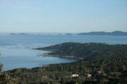 Tour de La Castagna et les îles Sanguinaires dans le fond