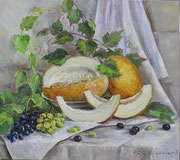 313 Натюрморт с фруктами. Х.,м. 70х80 2015г.