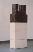 Denkmodel Nr.2, Bronze, Kalkstein, 25 x 70 x 180 cm