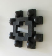 ohne Titel - Bronze - 40 x 40 x  8 cm