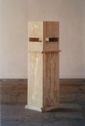 ohne Titel - Gips - Ton - Eisen - 165 x 50 x 70 cm