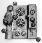 Philosophischer Ofen - Alu-Guss - 34 x 34 x 10 cm