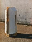 ohne Titel - Gips - Ton - Eisen -112 x 67 x 43 cm