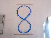 Einatmen Ausatmen - Tusche auf Chinapapier, Balsaholz, 120 x 190 cm