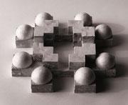 ohne Titel - Gips - Styropor - 40 x 40 x  8 cm