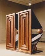 ohne Titel - Eichenholz - Eisen - 145 x 140 x 79 cm