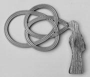 Schwingung - Alu-Guss - 45 x 37 x 4 cm