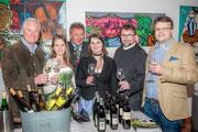 Garser Wein 2016, Weinpater Generaldirektor Hubert Schultes, Nö Weinprinzessin, Bürgermeister Martin Falk, Nö Weinprinzessin, Pater Michael Hüttl, Matthias Laurenz Gräff. Copyright Reinhard Podolsky