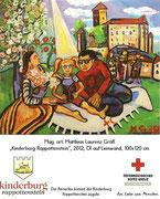 """Weinetikette """"Kinderburg Rappottenstein"""", Matthias Laurenz Gräff"""
