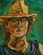 ÜBERMALT  Selbstbildnis, 50x40 cm, 2006