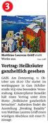 Vorankündigung in den Bezirksblättern Horn (Woche 41)