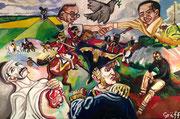 """""""200 Jahre nach Waterloo"""", Öl auf Leinwand, 80x120 cm, 2015"""