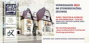 """Einladung Matthias Laurenz Gräff """"Kunst, Tradition und Aufbruch"""", Ausstellung Steirerschlössl Zeltweg, Red Bull Projekt Spielberg."""