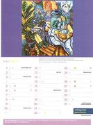 Matthias Laurenz Gräff. Garser Kalender, Monatsblatt März