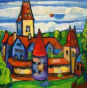 NICHT MEHR ERHÄLTLICH (USA), Verwunschenes Schloss im Wald (Schloss Ottenstein), 50x50 cm,2012