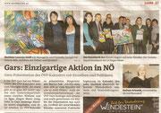 Matthias Laurenz Gräff. Presseartikel in den Bezirksblättern (Waldviertler), Horn