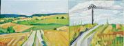 """Landschaft bei Gars"", Öl auf Leinwand, 30x80 cm, 2017;  F. N. 34 - (2017: 34)"