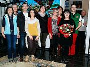 Lehrerteam der ASO Horn um Dir. Karin Hauer mit Georgia Kazantzidu und Matthias Laurenz Gräff.  (DI Gerhard Baumrucker, NÖN)