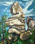 Der Wächter (Kogelsteine bei Eggenburg), 100x80 cm, 2009
