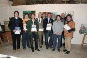 Präsentation des neuen ÖVP-Gemeindekalenders für 2012 - Matthias Laurenz Gräff erster von links; Foto ÖVP Gars / (Hilda Schwameis ?)