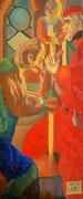 Der Niedergang des Rittertums, Öl auf Platte, 118,5x50 cm, 2003 (2004)