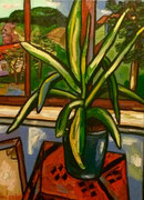 Interieur mit Yucca-Palme, 75x55 cm, 2009
