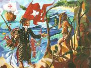 NICHT MEHR ERHÄLTLICH, Christoph Kolumbus landet auf San Salvador, 120x160 cm, 2006
