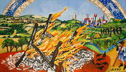 """""""Topographie des 17. Jahrhunderts"""", Öl auf Leinwand, 155x90 cm, 2017"""