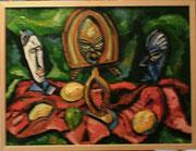 NICHT MEHR ERHÄLTLICH, Stillleben mit schwarzafrikanischen Masken, 2010