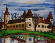 """NICHT MEHR ERHÄLTLICH, """"Schloss Waldreichs"""", 40x50 cm, 2012"""