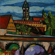 Steinerne Kampbrücke mit Stift Zwettl, 40x40 cm, 2012