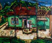 NICHT MEHR ERHÄLTLICH, Meines Vaters Elternhaus, 75x90 cm, 2006