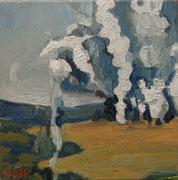 """""""Brabant 1815"""", Öl auf Leinwand, 30x30 cm, 2019;  F. N. 98 - (2019: 24)"""