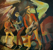 Rockband The Clash, Öl auf Hartfaserplatte, 61,5x64 cm, 2004