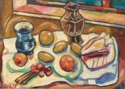 Stillleben mit Obst und Muschel, 60x85 cm, 2009
