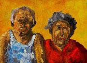 Bildnis von Oma und Opa, 55x75 cm, 2002