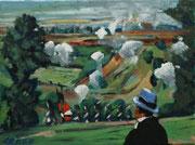 """NICHT MEHR ERHÄLTLICH   """"Pierre Besuchov bei Borodino"""", Öl auf Leinwand, 30x40 cm, 2020;  F. N. 126 - (2020: 23)"""