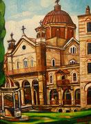 """""""Berg Athos, Kloster Zografou"""", 80x60 cm, 2014"""
