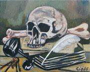 """""""Dead man tells no tales"""", Öl auf Leinwand, 40x50 cm, 2017;  F. N. 24 - (2017: 24)"""