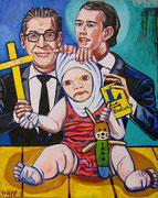 """""""Liebende Eltern"""", Öl auf Leinwand, 100x80cm, 2018"""