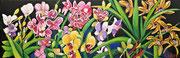 """NICHT MEHR ERHÄLTLICH   """"Ein Horizont voller Orchideen"""", Öl auf Leinwand, 40x120 cm, 2020;  F. N. 109 - (2020: 6)"""