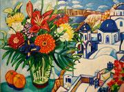"""NICHT MEHR ERHÄLTLICH, """"Blühendes Griechenland"""", Öl auf Leinwand, 60x80 cm, 2015"""