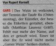Pressebericht NÖN Horn (Woche 12),  Copyright by Rupert Kornell