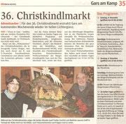 Matthias Laurenz Gräff. Pressebericht in der NÖN Horn (Woche 49) Copyright by Rupert Kornell