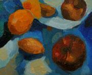 Stillleben im Spiegel, Öl auf Hartfaserplatte, 24x30 cm, 2004