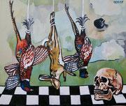 """""""Bedenke, dass Du sterblich bist!"""", Öl auf Leinwand, 105x125 cm, 2017;  F. N. 48 - (2017: 48)"""