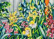 """""""Orchideenfeld"""", Öl auf Leinwand, 60x80 cm, 2019;  F. N. 79 - (2019: 5)"""