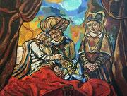 Jakobssegen (Mitglieder der Familie De Graeff darfstellend) - (nach Rembrandt van Rijn), 140x190 cm, 2009